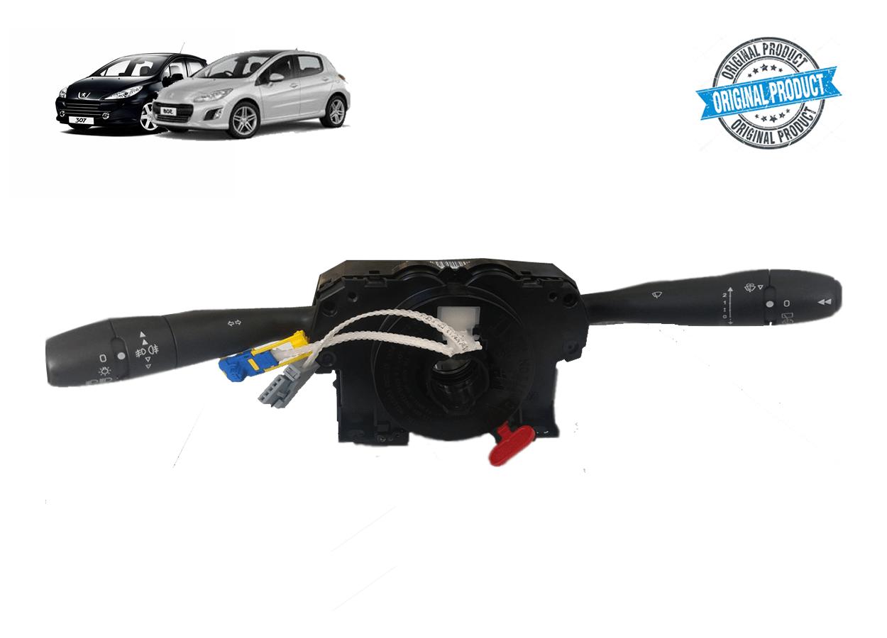 98062104XT - Chave de Seta c/ Limpador Traseiro e Computador de Bordo Original ( Peugeot 307 )