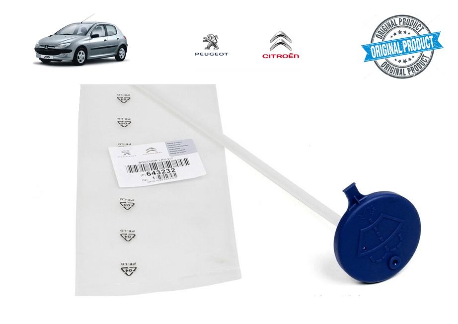643232 - Tampa Azul do Reservatório do Limpador Original ( Peugeot 206 )