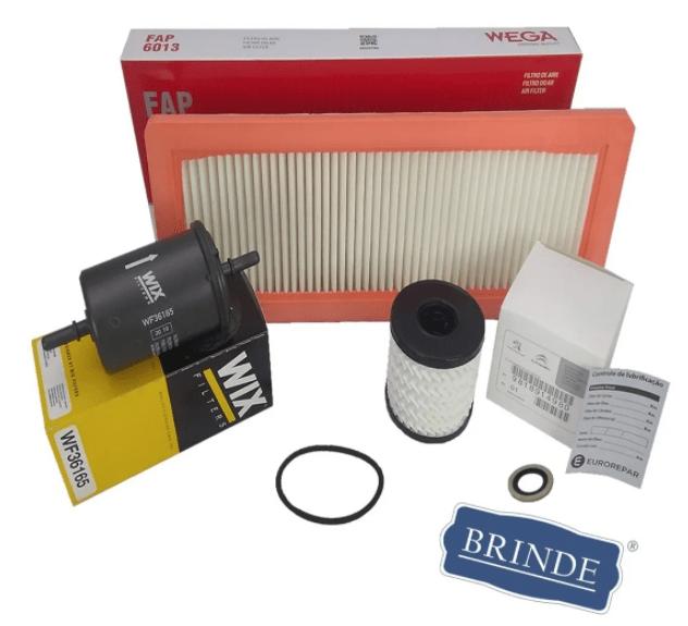 9818914980 / FAP-6013 / WF36165 / 016488 - Kit Filtros Ar / Óleo / Combustível Thp 1.6 16v + Brinde