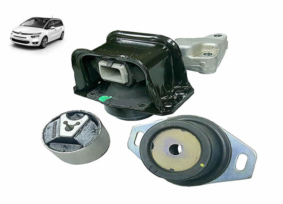1839H6-184468-180944 Kit Coxim Hidráulico Calço / Motor / Inferior / Câmbio / (Citroen C4 PICASSO 2.0 16V)