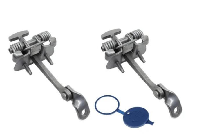 9181k0 / 643230 - Par Limitador Porta Traseira+tampa Azul Peugeot 307 Original