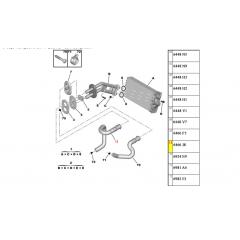 6466F5 - Mangueira Entrada Ar Quente Superior Original ( Peugeot e Citroen )