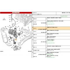 037979 / V861706980 - TUBO DE RETORNO DE OLEO DA TURBINA THP ORIGINAL ( CITROEN DS4 )
