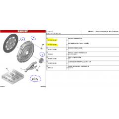 1619230180 - Kit de Embreagem com Rolamento s/ aba Original ( Citroen Jumpy )