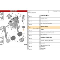 9818232480 - Interruptor Pedal Sensor da Luz de Freio Original ( Citroen C4 )