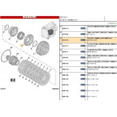 231908 / 231910 - Kit Pistao Cambio E1 E2 Al4 At8 Peugeot Citroen Renault
