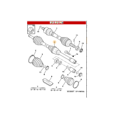 3273FJ - Tulipa Trizeta Semieixo Completo Lado Direito automático 25x26 785mm ( Citroen Xsara Picasso )