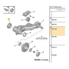513196 / 513266 / 517408 - Kit Rolamento Eixo Traseiro 50mm(Peugeot 206 207) Original