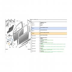 9181Q4 - Par Limitador Porta Dianteira Citroen C3 Novo Original