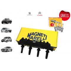 Kit Bobina de Ignição + BRINDE JG de Vela ignição NGK  1.4 8V ( Peugeot e Citroen )