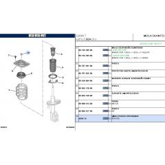 Kit Batente Completo Amortecedor Dianteiro Original ( Peugeot Expert / Citroen Jumpy )