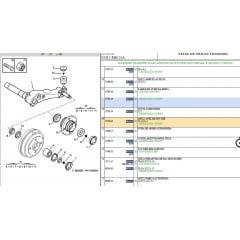 373803 - Anel Trava Rolamento Traseiro 206 207 306 106 Peugeot Original