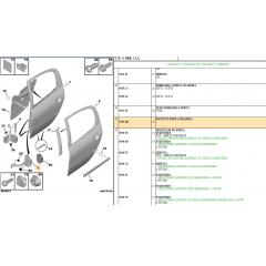 9181Q6 - Kit Par Limitador De Porta Traseira Peugeot 206 207 Original